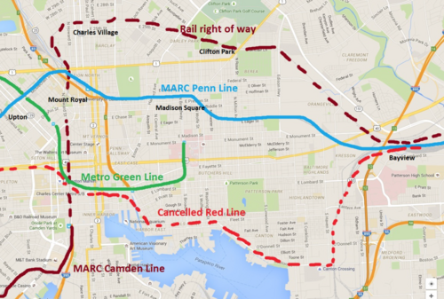 Madison Metro Map.There S A Plan For More Rail Options In Baltimore And It Doesn T
