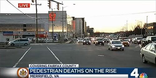 pedestrian deaths tripled in fairfax county bad road design didn t