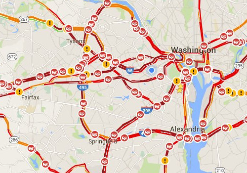 Traffic Map Dc Uptowncritters