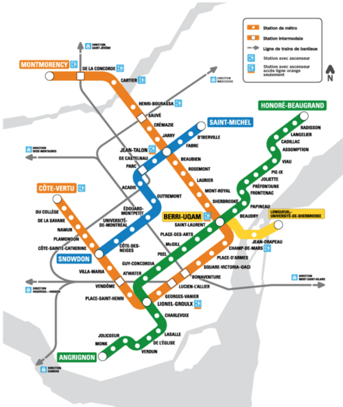 Montreal Subway System Map.Check Out Montreal S Transit Network Greater Greater Washington