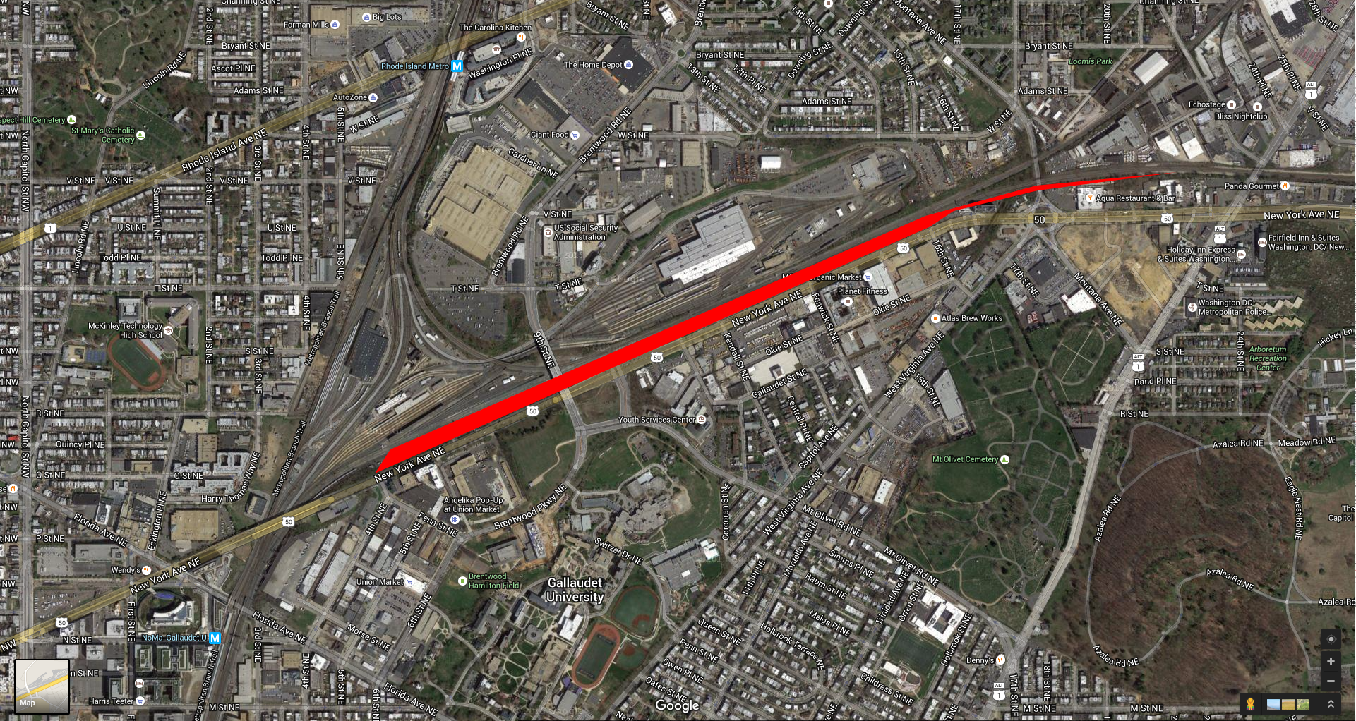 Picture A Rail Yard But With Bike Lanes And Parks On Top - Nyc map bike lanes