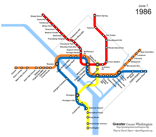 New York City Subway Map January 2001.What If Metro Had Stopped Building In 1986 Greater Greater Washington