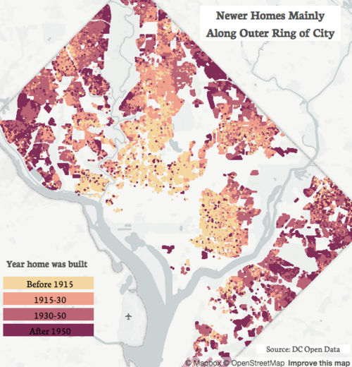 How DC's central and outer neighborhoods differ, in 3 maps – Greater Map Of Dc Neighborhoods on