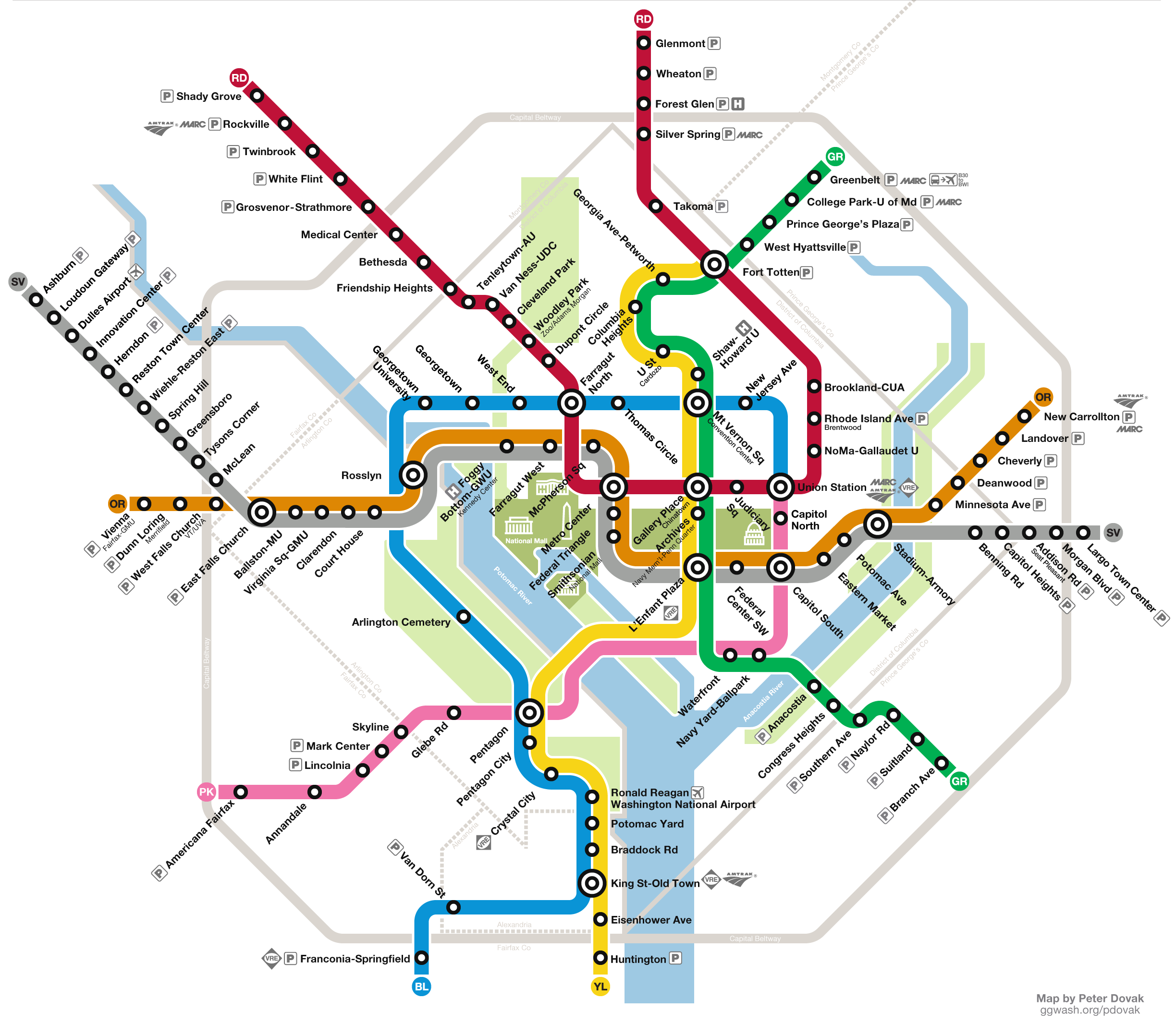 how a columbia pike line could integrate into the future metro systemgraphic by the author. why is there no metro line on columbia pike – greater greater