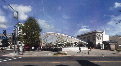 Metro Plans A Unique Canopy For Dupont S North Entrance