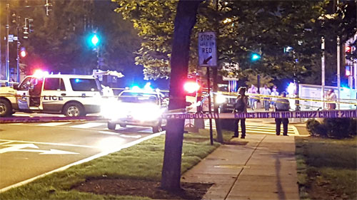 A woman died crossing a street in Glover Park last night ...