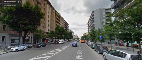 "There's a ""Washington"" neighborhood in Milan, Italy ..."