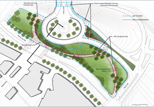 This plan would make it easier to walk or bike from l enfant plaza to the southwest waterfront for Who designed the basic plan for washington dc