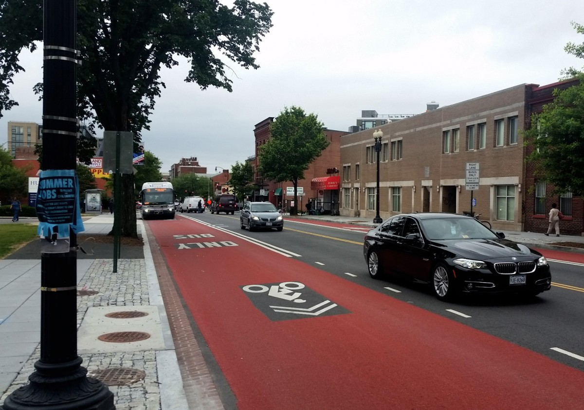 Georgia Avenue S New Red Surface Bus Lanes Greater