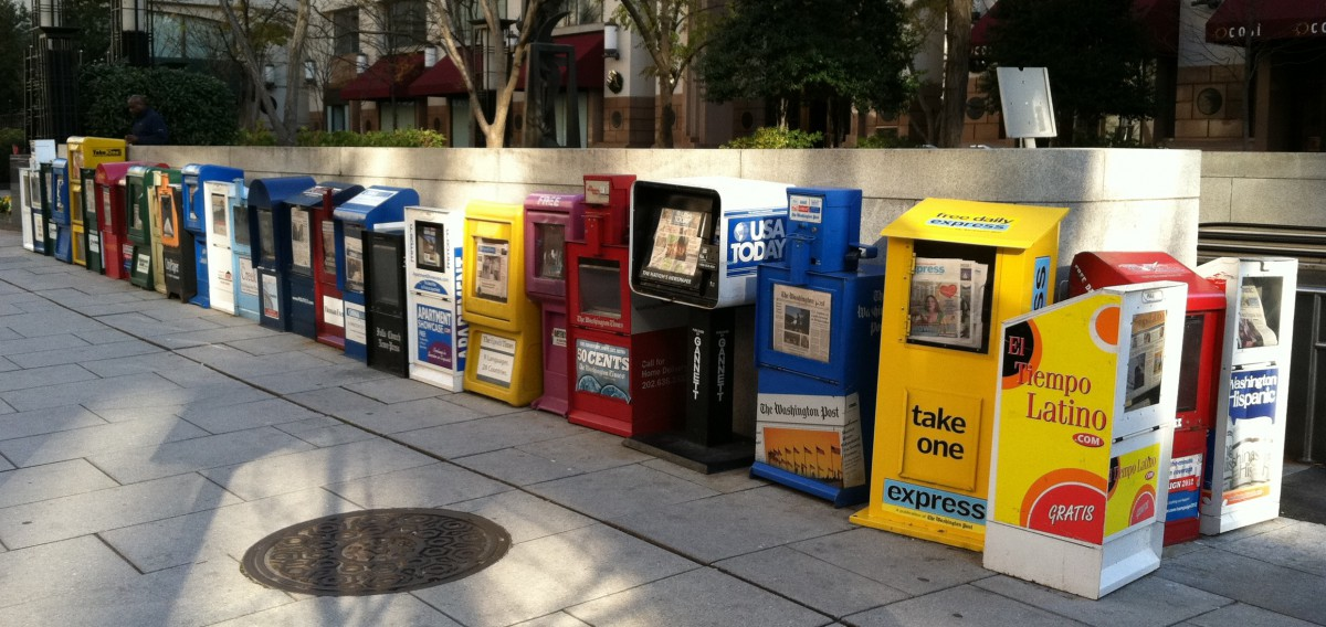 Image result for battered newspaper box
