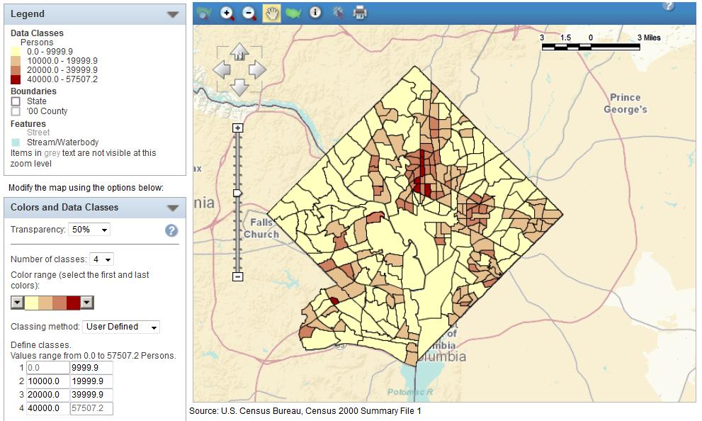 compare the neighborhood density of us urban areas greater greater washington