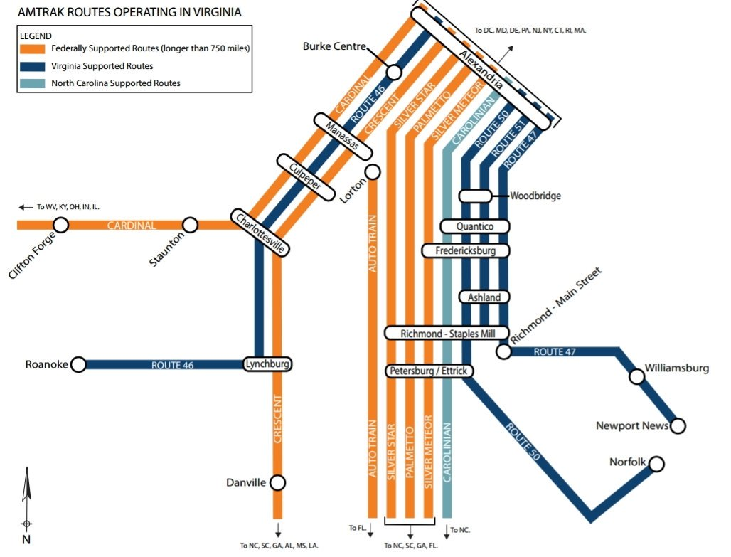 Virginia has a subway-style Amtrak map – Greater Greater ...