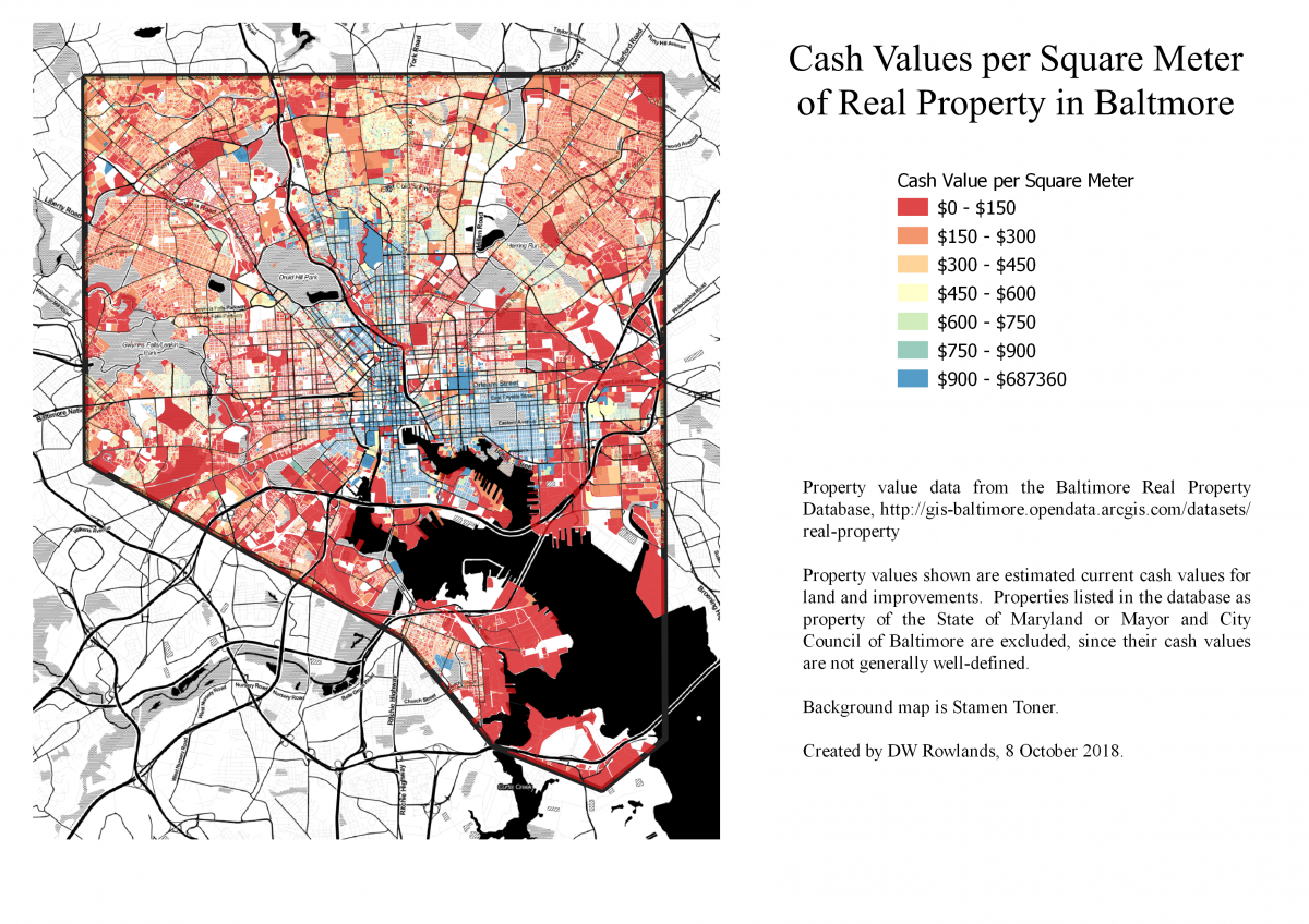How does access to frequent transit correlate with property
