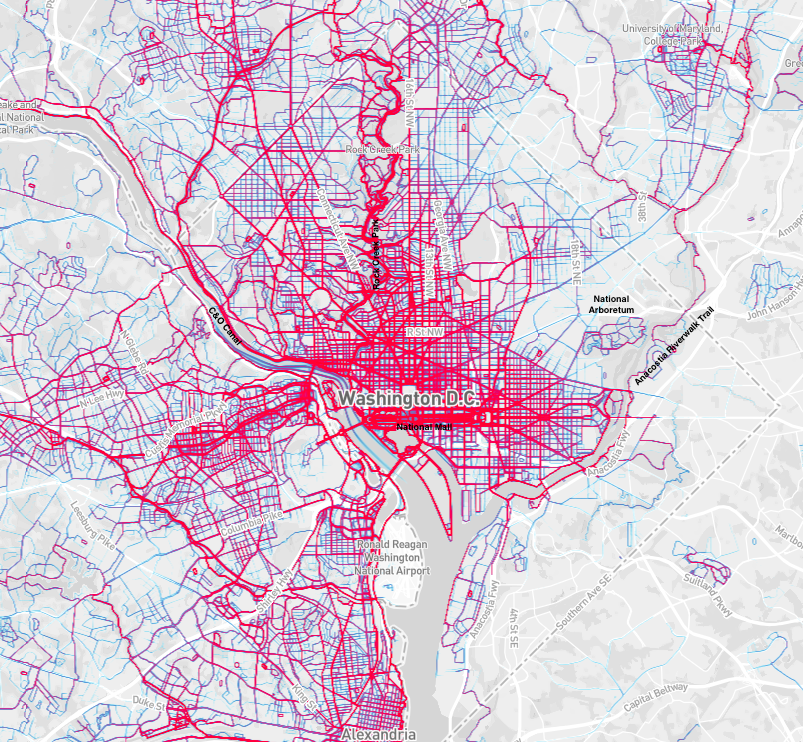 These new maps show where people like to run and bike around the