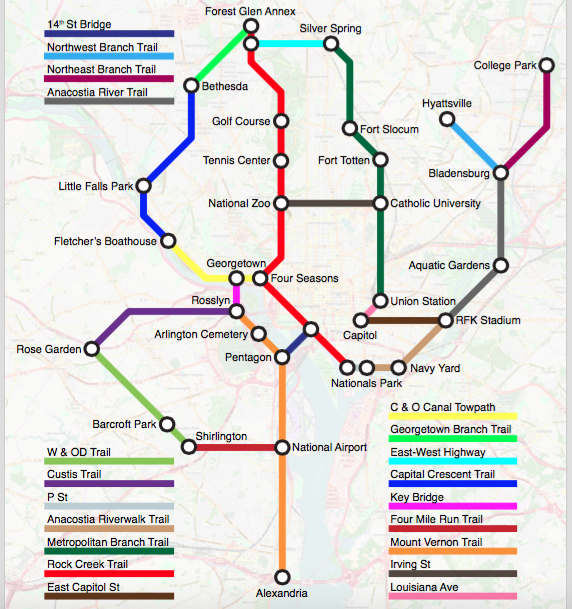 Subway Map Bike.See A Subway Map Of Bike Lanes And Trails In Our Region Greater