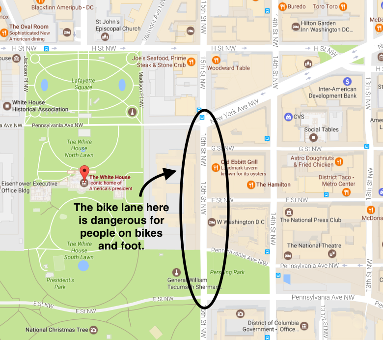 Fi are coming to the 15th Street bikeway near the White ... Google Map White House on white house map floor, white house art projects, white house heckler, white house complex map, white house thanksgiving 2014, white house washington dc map, white house washington monument lincoln memorial, white house 6 floors, white house jumper, white house scaffolding, white house west wing, white house location state, white house drone crash, white house mosque, white house blue, white house obama living quarters, white house aliens, white house chief of executive, white house lighting, white house grounds map,
