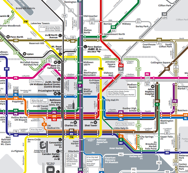 The Map For Baltimores New Bus System Is Positively