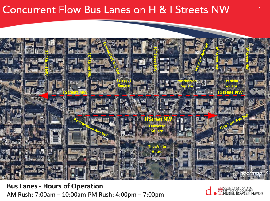 Bus-only lanes on H and I streets NW could make for a faster