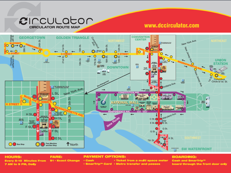 The Circulator is now free. Why just the Circulator? It's ... on local map, repeater map, fan map, mbta orange line map, cta brown line map,