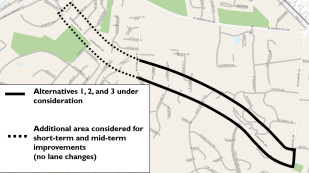Seminary Road in Alexandria could become safer for people