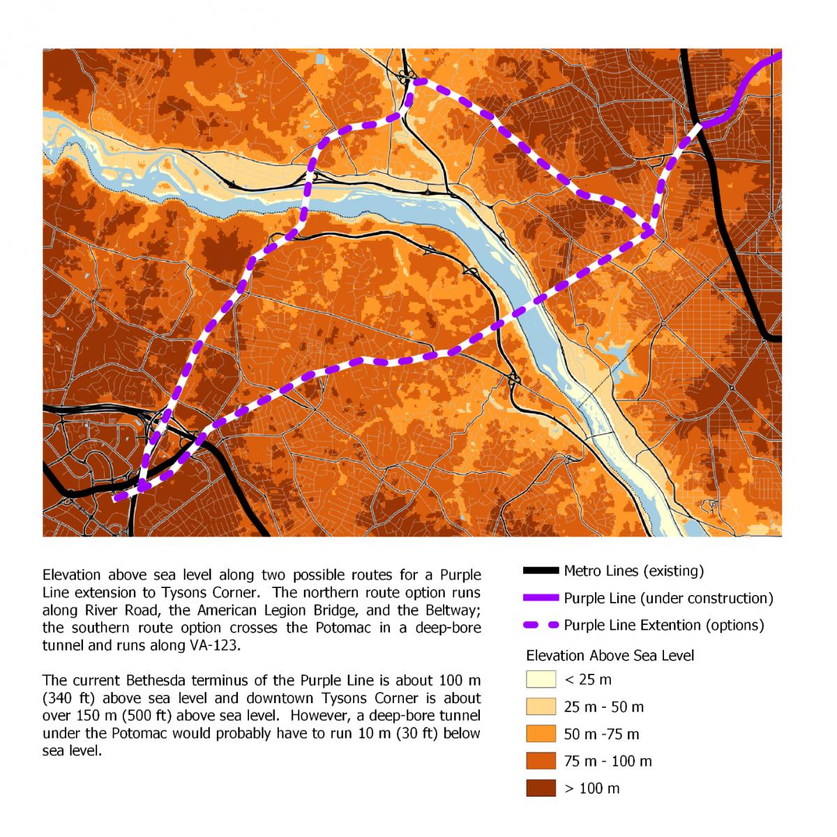 The best way to build a Purple Line link between Bethesda