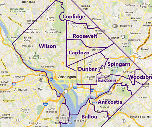 washington dc zip code map pdf
