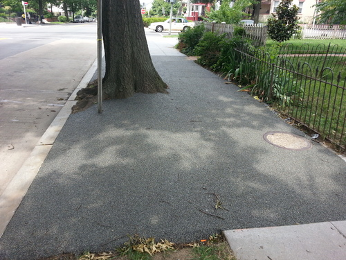 New Sidewalk Uses Porous Flexible Pavement Greater