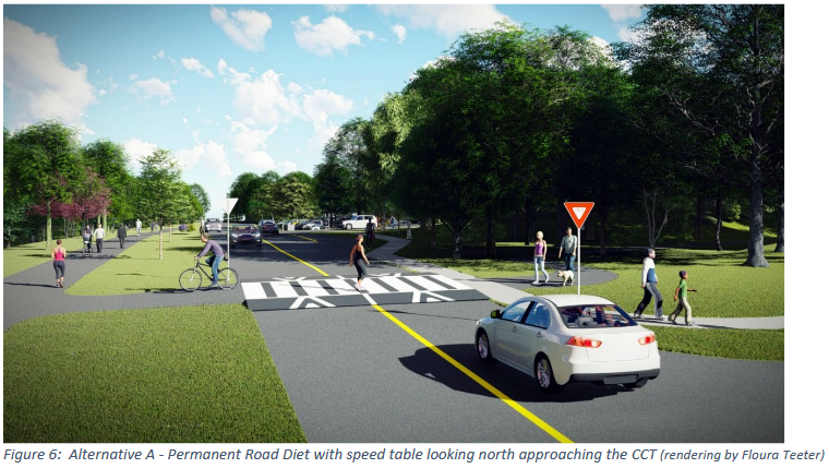 """These """"road diets"""" would make streets safer and barely"""